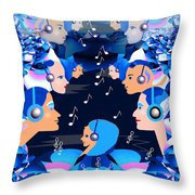 2547 Listen To The Music V Throw Pillow