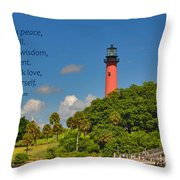 255- Becca Lee - Jupiter Lighthouse Throw Pillow