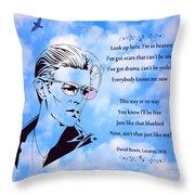 256- David Bowie Throw Pillow