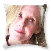 Female Beauty Expressions. Throw Pillow