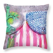 26.  Jane Berke, Artist, 2017 Throw Pillow