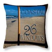 26 Windows Coastal Throw Pillow