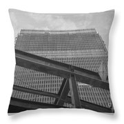 World Trade Center Under Construction 1967 Throw Pillow