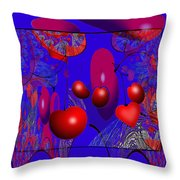 2613 Cherry Fractal 2018 Throw Pillow