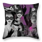 2616 Ladies Masks Man Weapons 2018 Throw Pillow
