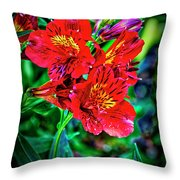 2647- Red Flowers Throw Pillow