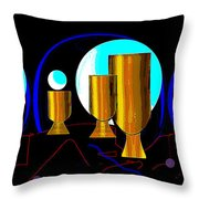 2664 Golden Goblets Patterns 2018 Throw Pillow