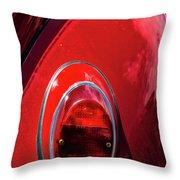 2665- Red Volkswagen  Throw Pillow