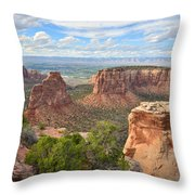 Colorado National Monument Throw Pillow