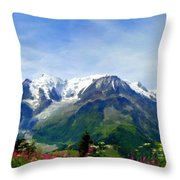 R F Landscape Throw Pillow