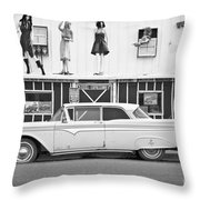 Route 66 Cars Cafes Restaurants Hotels Motels Throw Pillow