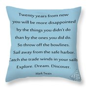 27- Twenty Years From Now Throw Pillow
