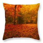 Nature Art Landscape Throw Pillow