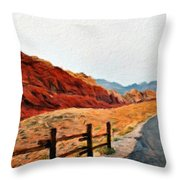 Landscape Nature Throw Pillow