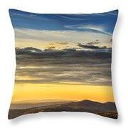 Allegheny Mountain Sunrise Throw Pillow
