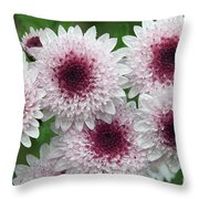 Autumn Flowers Throw Pillow