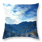 Lake Landscape Throw Pillow