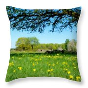 Landscapes Oil Painting Throw Pillow