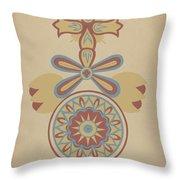 "Santa Barbara Mission Doorway Design From The Portfolio ""decorative Art Of Spanish California"" Throw Pillow"
