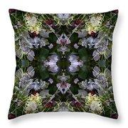Wormhole Mandala Throw Pillow