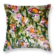 Divine Blooms Throw Pillow