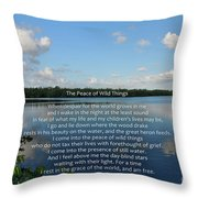 282- The Peace Of Wild Things Throw Pillow