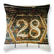 28th Street Throw Pillow