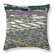 Bonnaroo Music Festival Aerial Photography Throw Pillow