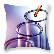 Laboratory Experiment In Science Research Lab Throw Pillow
