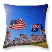 Pepperdine Flag Salute Throw Pillow