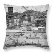 2d Quays  Throw Pillow