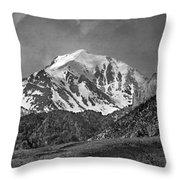 2d07508-bw High Peak In Lost River Range Throw Pillow