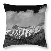 2d07509-bw High Peaks In Lost River Range Throw Pillow