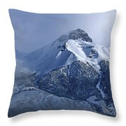 2d07513 Fresh Snow On Mt. Mccaleb Throw Pillow