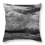 2d07517-bw Storm Over Lost River Range Throw Pillow