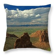 2d10338 Thunderhead Over Independence Monument Throw Pillow