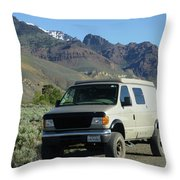 2da5944-dc Our Sportsmobile At Steens Mountain Throw Pillow