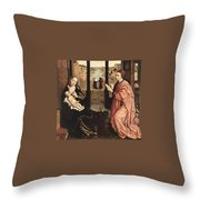 2luke Rogier Van Der Weyden Throw Pillow