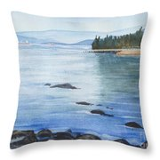 2nd Beach, Vancouver Throw Pillow