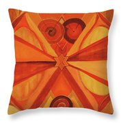 2nd Mandala - Sacral Chakra Throw Pillow