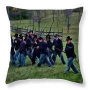 2nd Wi Infantry Black Hats Throw Pillow