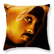 2pac Throw Pillow