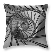 2x1 Abstract 434 Bw Throw Pillow