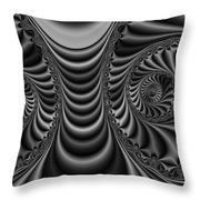 2x1 Abstract 435 Bw Throw Pillow