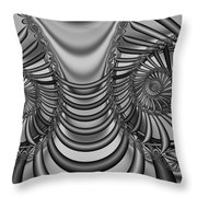 2x1 Abstract 436 Bw Throw Pillow