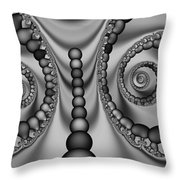 2x1 Abstract 438 Bw Throw Pillow
