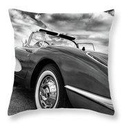 1959 Chevrolet Corvette Throw Pillow
