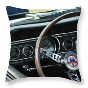 1966 Ford Mustang Cobra Steering Wheel Throw Pillow