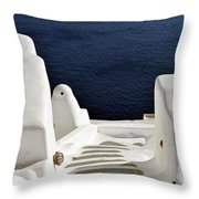 28.09.2016 Photography Of Traditional And Famous Houses And Churches With Blue Domes Over The Calder Throw Pillow