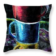 3 4 Coffee Throw Pillow